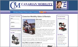 Screenshot of Canarian Mobility  Website