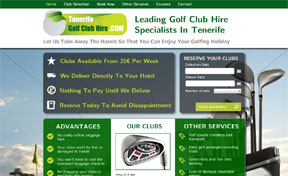 Tenerife Golf Club Hire